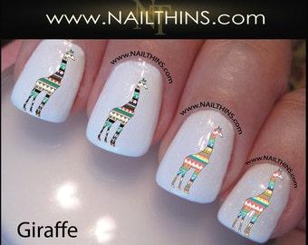 Tribal Giraffe Nail Decal Nail Art  Nail Designs NAILTHINS