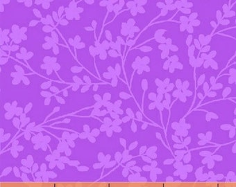 Half Yard Spin - Small Floral in Purple - Cotton Quilt Fabric - by Whistler Studios for Windham Fabrics (W1266)