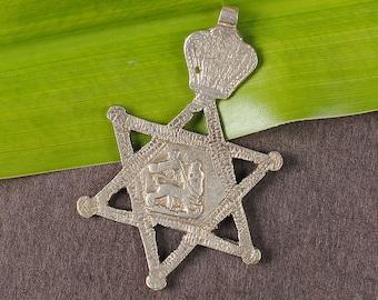 Star of David neck cross Lion of Judah pendant Rasta clothing Rastafari Ethiopian cross Reggae  Haile Selassie I Pendant