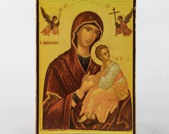 Christian Icon Madonna and babe Jesus, Virgin Mary, catholic icons and orthodox icons