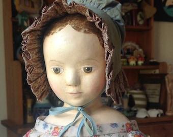 Little Hamptons mid 1800s style bonnet pattern suitable for medium size doll