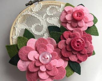 Lace Garden - Hoop Art