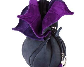"Leather Bucket Bag   Handmade Bucket Bag   Designer Bucket Bag   Leather Shoulder Bag   Bucket Bags   Bucket Bag ""Feedbag Orchid"""