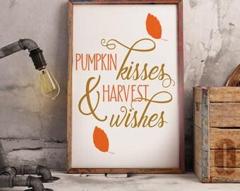 Fall decor -  Fall wall art - Pumpkin decor - Autumn wall art - Autumn decor - Autumn wall decor -  Fall decorations - Home decor