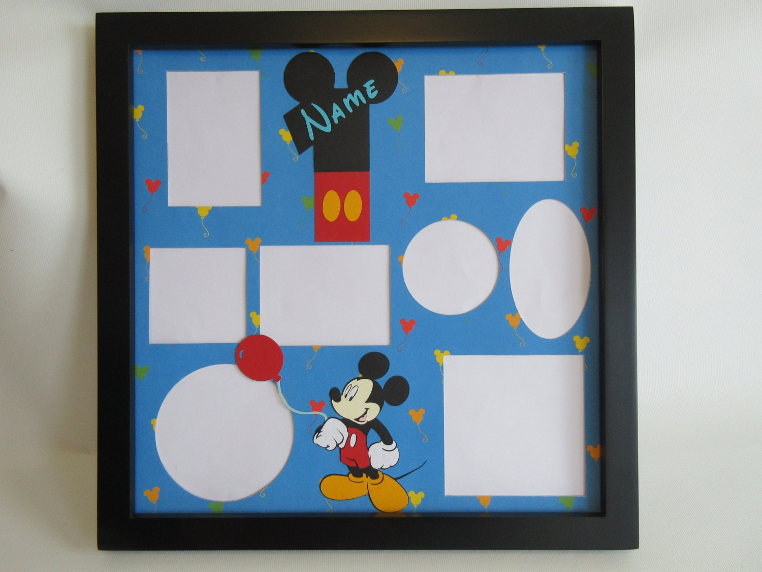 Disney themed birthday party picture frame collage photo zoom jeuxipadfo Choice Image