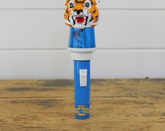 1985 Ringling Brothers and Barnum Bailey Circus Tiger Flashlight, Collectible, Circus, Non Working, Flashing Toy, Souvenir, Blue Light Child