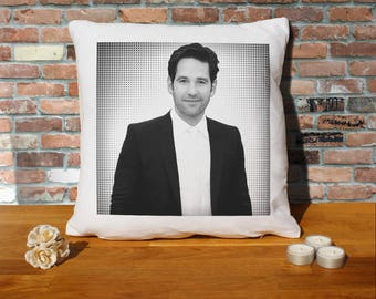 Paul Rudd Pillow Cushion - 16x16in - White