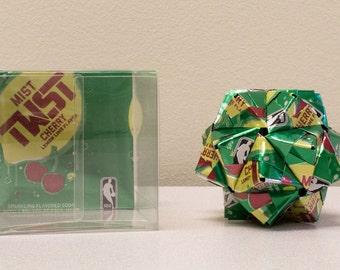 Sierra Mist Twist NBA Edition Drink Can Ornament  // Origami // Upcycled Recycled Repurposed Art  // Valentines Day // weird gifts // NBA