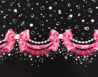 """Bubble Charm BLACK 100% Cotton Broadcloth ~ 42"""" Wide ~ Sold by the Yard"""