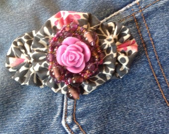 Hair, yoyos, beads and matching flower hair clip
