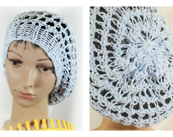 Loom Knitting Pattern Hat Slouchy Snood with Video Tutorial
