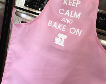 Keep calm and bake on - adult apron - perfect gift for the baker!
