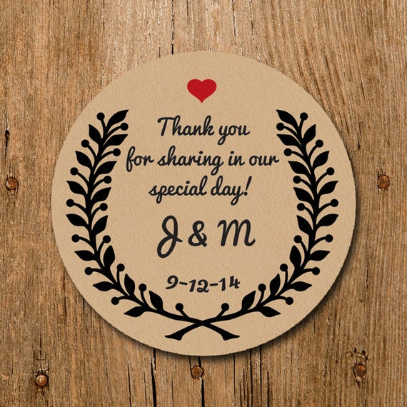 Customized stickers thank you for sharing in our special day wedding stickers labels wedding birthday party thank you stickers from homegrowngems