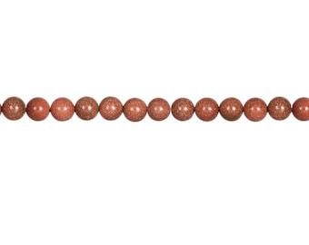 Brown Goldstone Bead Bracelet