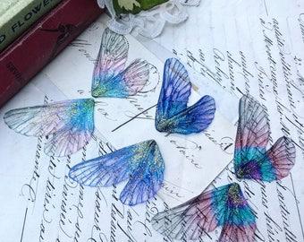 NEW Set of three mixed purple rainbow faerie wings