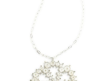 Silver Crop Circle Necklace