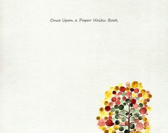 Haiku BOOK - Christmas New Year GIFT - kids playroom fun educational activity painting wall art color doodles child