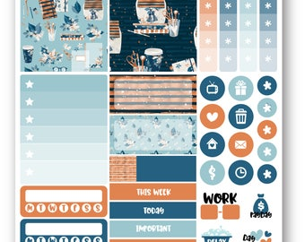 Ready to ship Planner Addict sampler weekly kit, Suitable for Erin Condren vertical planner, Weekly planner stickers, Mini weekly kit