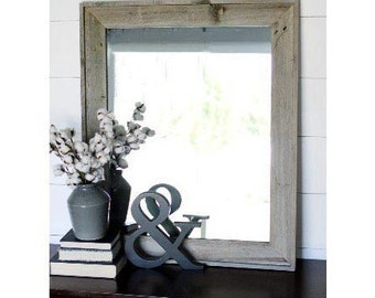 Rustic Mirror - Reclaimed Wood - Lighthouse Style