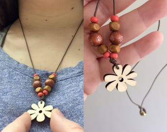 Fall Flower Necklace