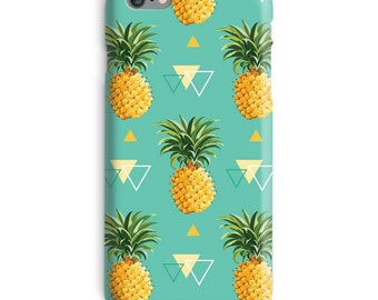 Pineapple iPhone Case, Triangle iphone 7 case, Fashion iphone 6 case, Tumblr iphone 6 plus case, Geometric iphone 6s case, Green iphone case