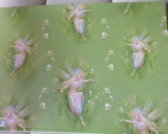 Green Fairy Wrapping Paper