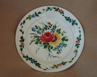 Vintage Handpainted Plate