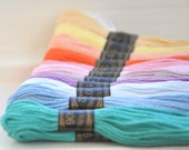 Embroidery Floss - Pastel Colors - 36 Skeins