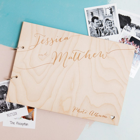 Personalised Wedding Photo Albums: Personalised Calligraphy Wedding Album Wedding Photo Album