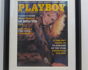 Vintage Playboy Magazine Cover Matted Framed : March 1985 - Shannon Tweed