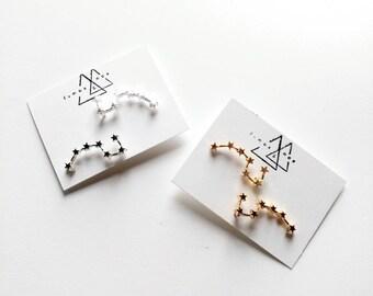 Big Dipper Constellation Ear Climber / zodiac / ursa minor / ursa major / astronomy / star earring / constellation / gift for her
