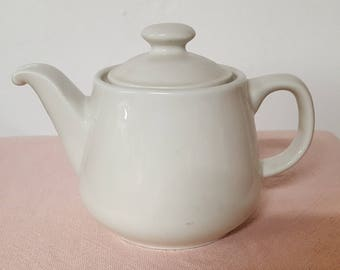 Vintage White Teapot Made In USA