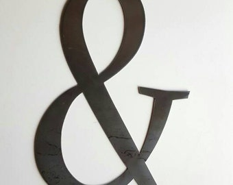 Ampersand  Metal Wall Home Decor. For Home or Office.  Great Housewarming, Birthday or Christmas Gift!  Ready to Ship!