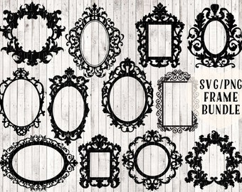 frame svg bundle, baroque frame svg, ornamental frame svg, ornate frame svg, picture frame svg, frame clipart, svg files, vinyl cut files