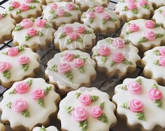 SWEET PETITES bite size roses sugar cookies ~ 3 dozen
