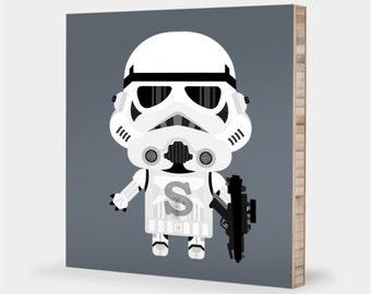Stormtrooper | Star Wars wall print - Star Wars kids decor, Star Wars nursery, Star Wars art, Star Wars baby trooper, Stormtrooper decor ABC