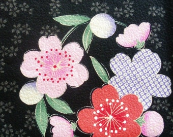Cotton - Cherry blossom wreath - Japanese Kimono design print 110cm x 70cm