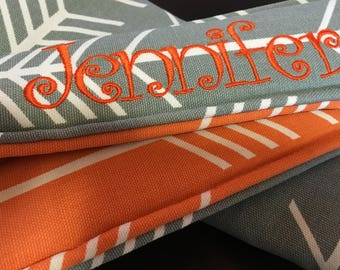 Name personalized Quick Release Hipster Camera Strap - Arrows Reversible to Cheyenne Feathers