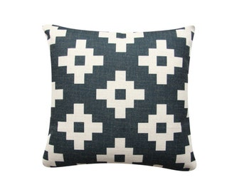 "18""x 18"" Decorative Pillow, Geometric Cushion Cover,  Charcoal Diamond Tribal Pillow Cover, Minimalist Scandinavian Cushion 318"