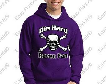 Die Hard Baltimore Ravens Fan Skull