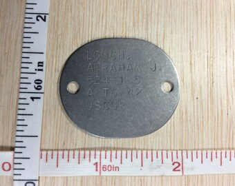 Vintage Abraham J. Louch Tag USCGR Used