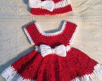 Santa's Little Helper Christmas Dress 4-8 months