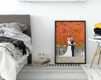 Christmas gift for wife, wedding vows, unique Christmas gift, first anniversary gift, gift for her, wedding vows poster, wedding vow art