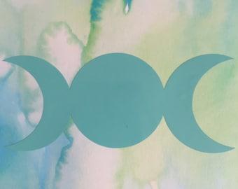 Triple Moon Decal, Goddess Decal, Goddess Sticker, Triple Moon Sticker, Pagan Decal, Pagan Sticker
