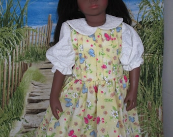 Spring Dress made to fit Maru and Friends Dolls, resized from Simplicity Pattern