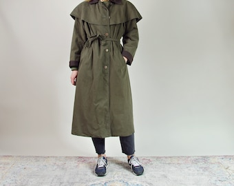90s Herful Design country style women duster coat made in Denmark