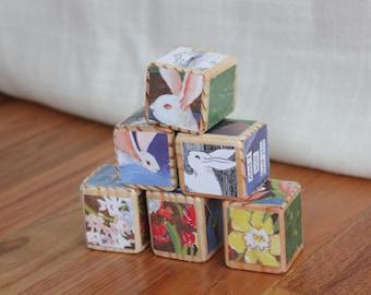 6 Runaway Bunny Wooden Blocks