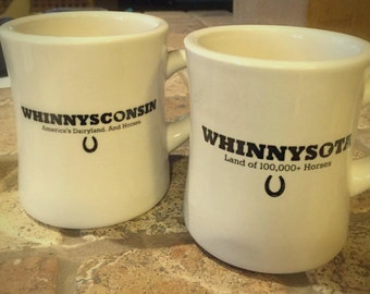 WHINNY-State Cafe Mugs