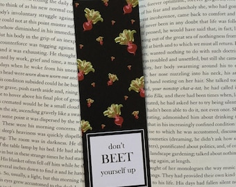 Bookmark, Punny Bookmark, Beet Bookmark