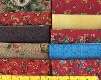 """CHINTZ MEDALLION Jelly Roll 40 - 2.5"""" Strips Quilting Fabric"""